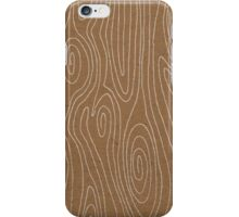 Faux Bois Wood Hand Drawn Patterns iPhone Case/Skin