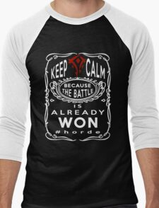 Warcraft - Keep Calm Horde Men's Baseball ¾ T-Shirt