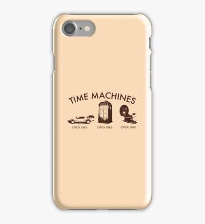 Time Machine Through Time iPhone Case/Skin