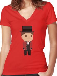 Brendon Urie Pixel  Women's Fitted V-Neck T-Shirt