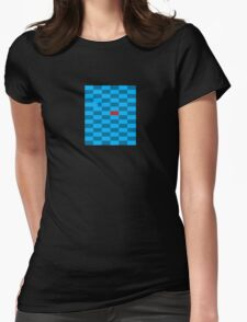 Red Block Next to Blue Gap - Pixel Field Series Womens Fitted T-Shirt