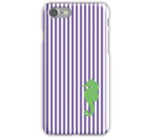 Purple/Green Seahorse Seersucker Nautical Print iPhone Case/Skin