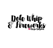 Dole Whip and Fireworks Photographic Print