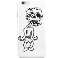 untoter alter mann zombie cool ekelig laufen horror monster halloween comic cartoon  iPhone Case/Skin