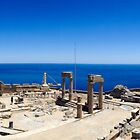 The Athena acropolis - Lindos Greece by Mark Williams