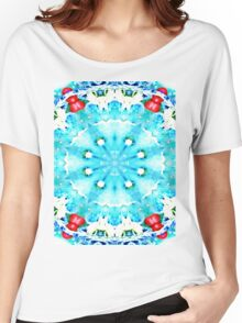 Turquoise kiss Women's Relaxed Fit T-Shirt