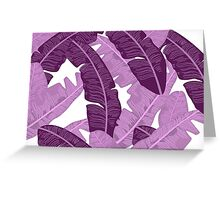 Purple/Pink Banana Leaf Pastel Nature Print Greeting Card
