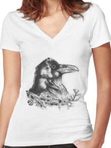 Raven's Call Women's Fitted V-Neck T-Shirt