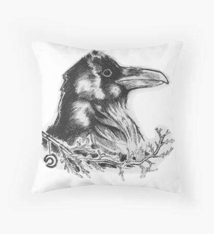 Raven's Call Throw Pillow