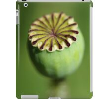 Poppy Head Green iPad Case/Skin
