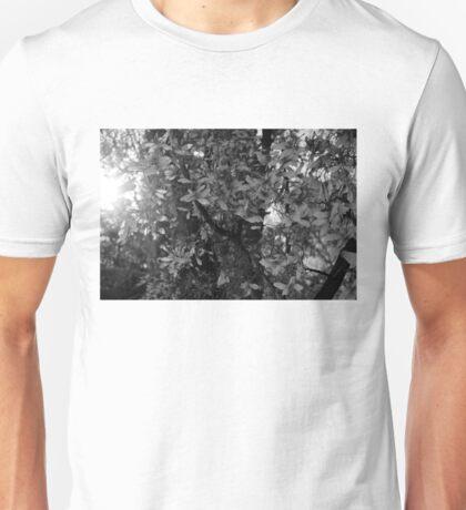 Butterfly tree in B&W Unisex T-Shirt