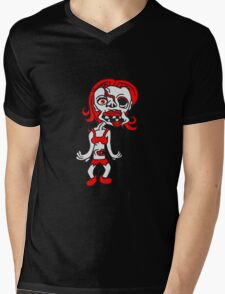 untote frau girl sexy lady mädchen zombie cool ekelig laufen horror monster halloween comic cartoon  Mens V-Neck T-Shirt