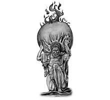 Atlas - Greek Mythology Statue Photographic Print