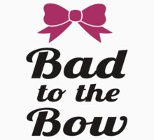 Bad To The Bow Cheer Art by Glamfoxx