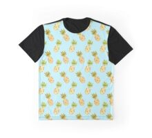 Watercolour Pineapples Pattern Graphic T-Shirt