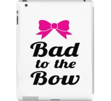 Bad To The Bow Cheer Art iPad Case/Skin