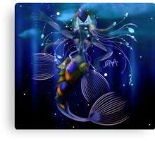 Antarctic Mermaid Canvas Print