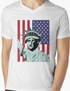 Statue of Liberty Mens V-Neck T-Shirt