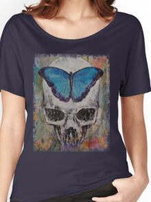 Butterfly Skull Women's Relaxed Fit T-Shirt