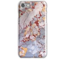 Red Gray Yellow Marble Pattern iPhone Case/Skin