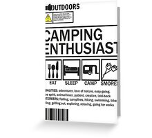 Camping Enthusiast Greeting Card