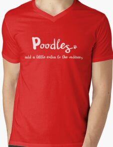 Extraordinary Poodle Mens V-Neck T-Shirt