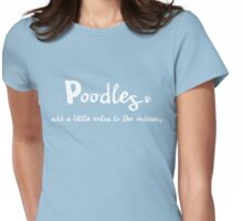 Extraordinary Poodle Womens Fitted T-Shirt