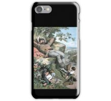 Fairy Tales, Tom Thumb and the Giant, Alexander Zick, 1865 iPhone Case/Skin