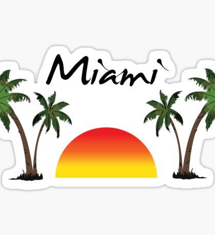 Miami Florida. Sticker