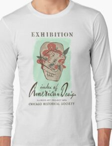Vintage Art Exhibit Ad Long Sleeve T-Shirt