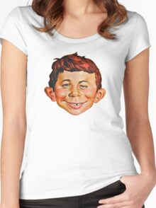 Alfred E. Neuman Women's Fitted Scoop T-Shirt