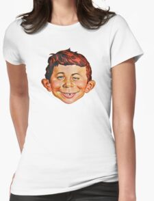 Alfred E. Neuman Womens Fitted T-Shirt