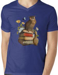 Wise Owl Mens V-Neck T-Shirt