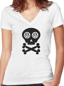 VW Deadhead Women's Fitted V-Neck T-Shirt