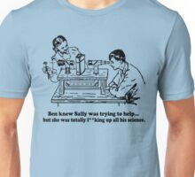 Sally Can't Science Unisex T-Shirt
