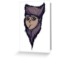 Sketchy mane Greeting Card