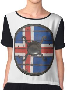 Icelandic Viking Shield Chiffon Top