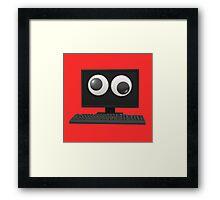 Googly-Eyed Computer Framed Print