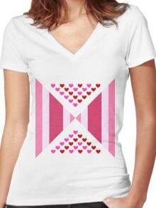 chevron. Abstract  Women's Fitted V-Neck T-Shirt