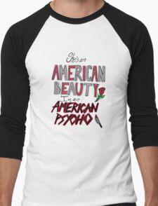 American Beauty / American Psycho Men's Baseball ¾ T-Shirt