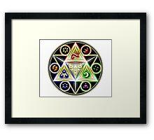legend of zelda - ocarina of time, the 6 of ages Framed Print