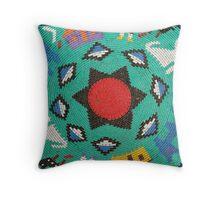 Zulu beadwork design Throw Pillow