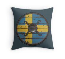 Swedish Viking Shield Throw Pillow