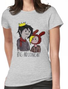 Fionna and Marshall Lee (King and Lionheart) Womens Fitted T-Shirt