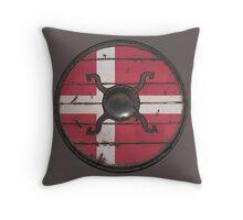 Danish Viking Shield Throw Pillow