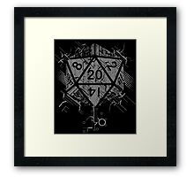 D20 Of Power Framed Print