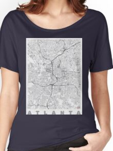 Atlanta Map Line Women's Relaxed Fit T-Shirt