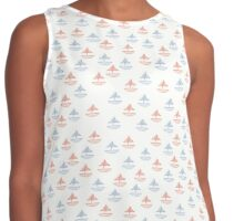 red and blue sail boats Contrast Tank