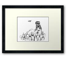 Longing for an Escape Framed Print