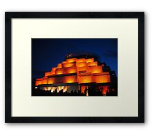 Bendigo Great Stupa-Festival of Light Framed Print